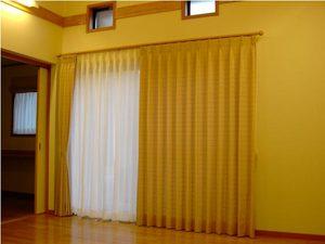 「形状記憶」加工のカーテン